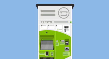 PRESTO ticket vending machine