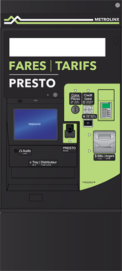 Illustration of the front of a Fare Vending Machine