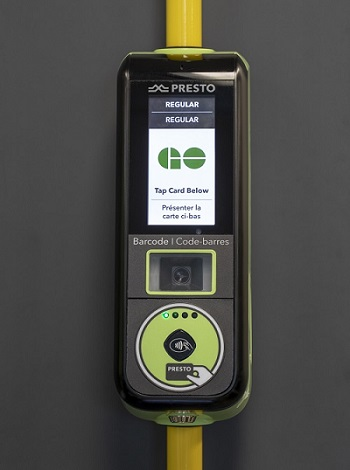 New PRESTO bus device