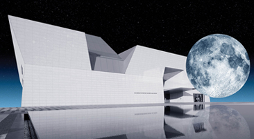 Image of Aga Khan Museum with Moon