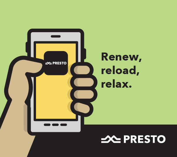 Renew, reload, relax with PRESTO